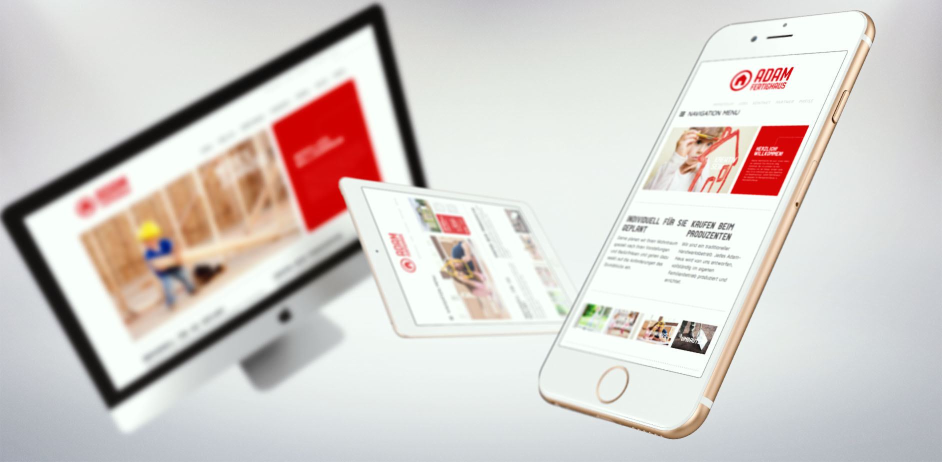 Adam Fertighaus Corporate Design | Webdesign